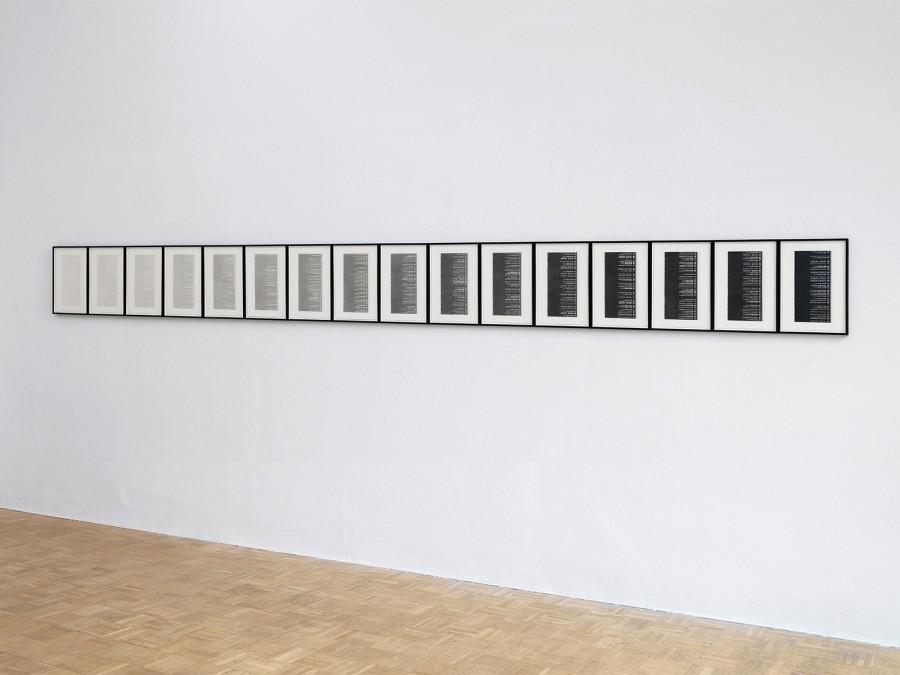 Über Bleistifte (F-C 6H bis 8B), 2013/14
