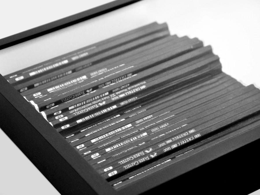 Über Bleistifte (61 schwarz), 2013