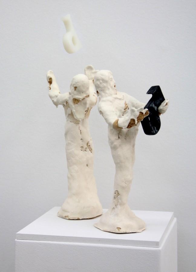 Cyrill und Method, mit hellem und dunklem Halbvokal (frei nach Wilhelm Busch), 2018